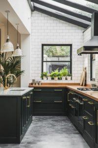 design forecast_black kitchen brass accents